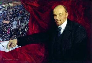 Бродский Исаак Израилевич (1884–1939) «Ленин и манифестация». 1919