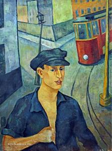 Русакова-Купервассер Татьяна Исидоровна (1903-1972) «На улице. Трамвай». 1925-1926