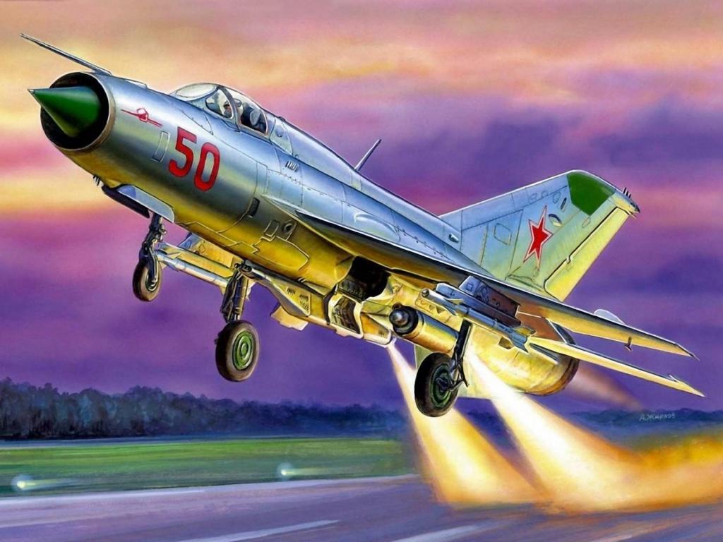 МиГ-21 с реактивнымими двигателями укороченного взлета. А. Жирнов