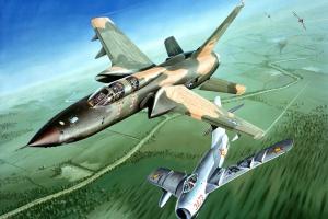Американский F-105 атаковал МиГ-17 Вьетнама