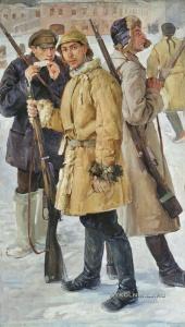 Дроздов Иван Георгиевич (1880-1939) «Первые красноармейцы. 1918 год» 1924