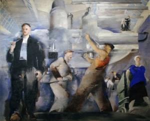 Пётр Вильямс. Монтаж цеха. 1932