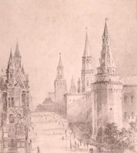 Рыбченков Борис Федорович (1899–1994) «Москва. Башни Кремля» 1947