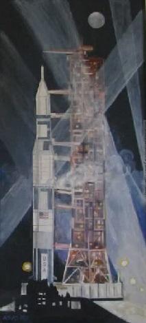 Художник Юрия Копейко. Сатурн-5. Выставка работ ... Из истории пилотируемой