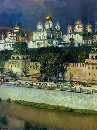 Московский Кремль. Соборы, 1894 Русский художник Аполлинарий Михайлович Васнецов