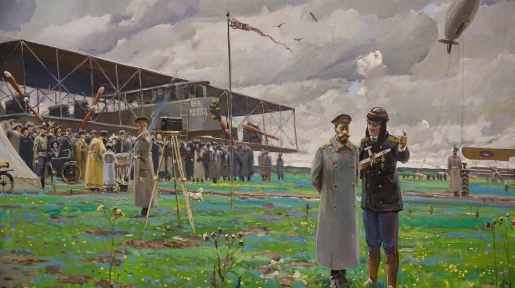 Павел Рыженко. Николай II на аэродроме.