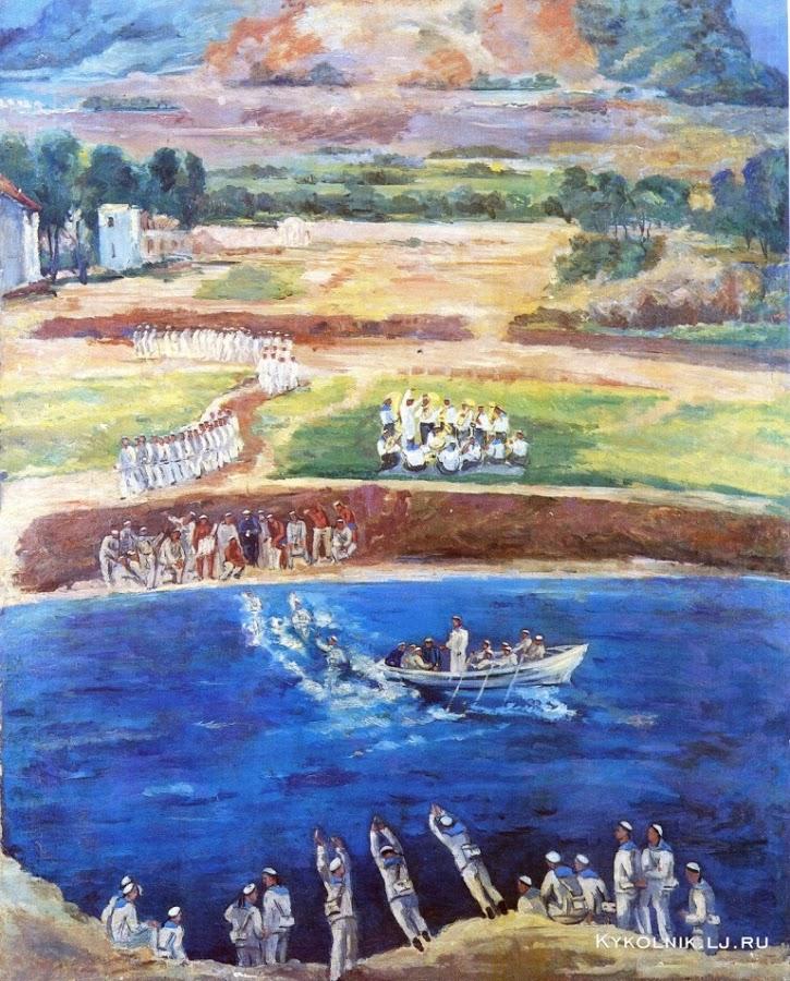 Мидлер Виктор Маркович (Россия, 1888 - 1979) «Учебное плавание» 1932-1933
