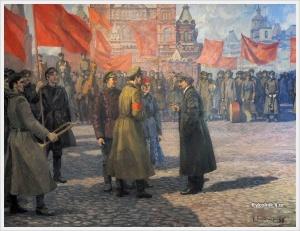 Николаев Борис Павлович (Россия, 1925) «В.И. Ленин на параде 1 мая на Красной площади» 1952