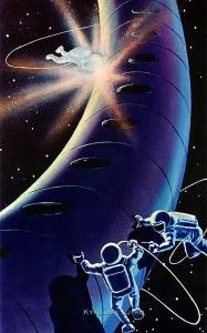 Соколов Андрей Константинович (1931-2007) «Космические сварщики» 1967
