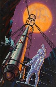 Соколов Андрей Константинович (1931-2007) «На спутнике Марса» 1967