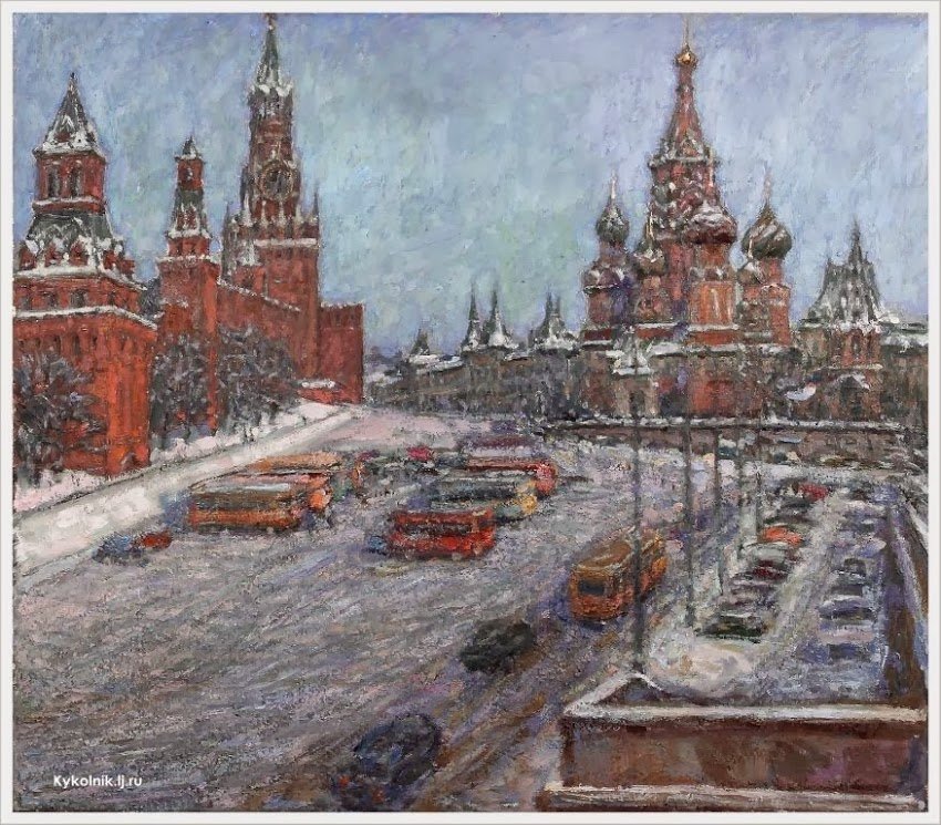 Соловых Геннадий Иванович (Россия, 1932–2010) «Красная площадь. Васильевский спуск»