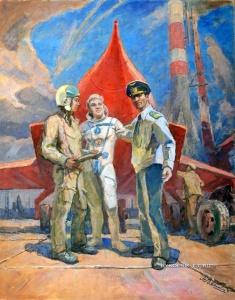 Вяткин Александр Васильевич (Украина, 1922–2012) «Небо зовет» 1976