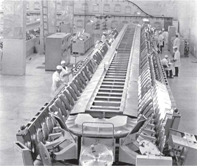 Участок нанесения люминофоров (завод «Хроматрон»)