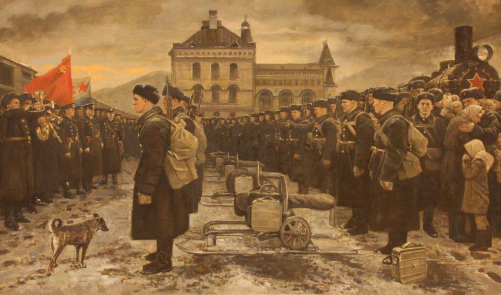 Мокрушин Виталий. Отправка морской пехоты ТОФ на оборону Москвы.