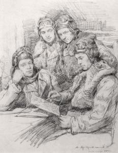 Яр-Кравченко Анатолий. Изучение маршрута перед полетом.