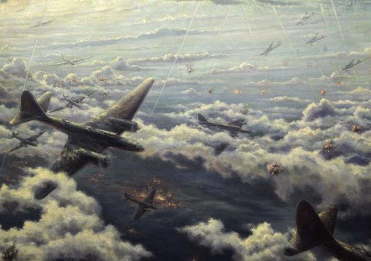 Цветков Борис. Удар авиации Балтийского флота по Ропшинской группировке.1944 г.