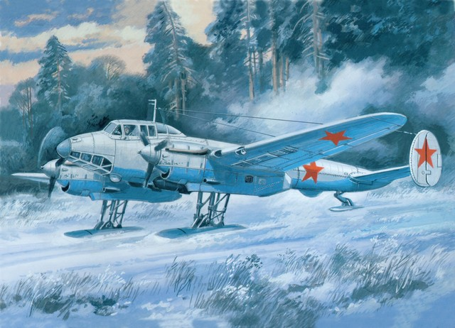 Руденко Валерий. Бомбардировщик ПЕ-2.