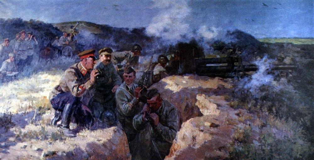 Бабков В. Жданов и Ворошилов на передовой.