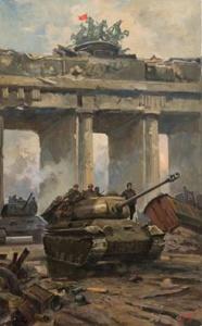 Богаткин Владимир. У Бранденбургских ворот. Берлин 2 мая 1945 года.
