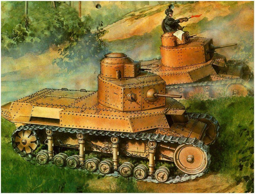 Жирнов Андрей. Танк Т-24 на маневрах.