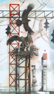 """Худ. Юрий Копейко """"Орлы"""" Выставка работ.... Из истории пилотируемой космонавтики»"""