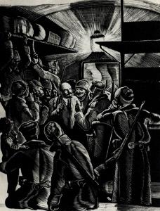П. Староносов. Иллюстрация к книге П. Керженцева 'Жизнь Ленина'. 1938