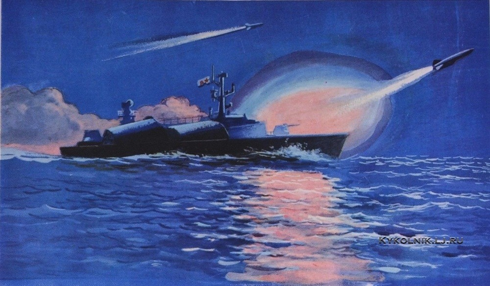 Бабановский Андрей Игоревич (1931-1995) «Ракетные катера» 1972