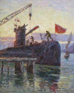 Коломойцев Петр Михайлович (1924-2013) «Аврал на подводной лодке» 1969