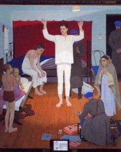 ЖИЛИНСКИЙ Дмитрий Дмитриевич (1927-2015) «1937 год». 1987 г. Дерево, темпера. 220 x 190 см. Государственная Третьяковская галерея, Москва.