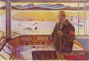 """1967. Перед полётом. Худ.Б.В.Окороков. Изд. """"Советский художник"""""""
