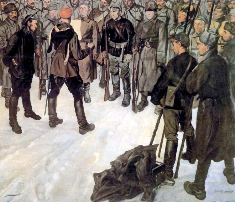 П. М. Шухмин. Приказ о наступлении, 1927