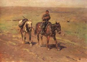М. Греков. В отряд к Буденному. 1923