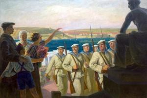 В поход. В.С. Богородицкий. 1938
