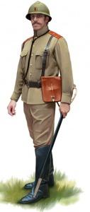 Штаб-офицер (подполковник), 1917 год. В 1916 г. офицеры начали носить каски Адриана. Норт Дж. Солдаты Первой Мировой войны 1914-1918