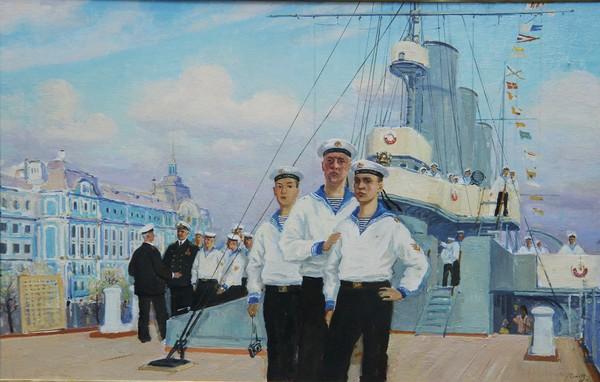 """Юность флота на крейсере """"Аврора""""."""