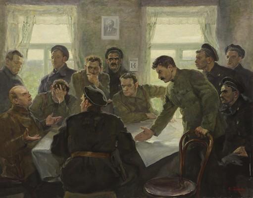 Бучкин П.Д. Совещание командиров и комиссаров частей в Ораниенбауме 14 июня 1919 г. 1939