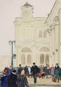 Витинг Николай Иосифович (1911–1991) «На площади трех вокзалов». 1960