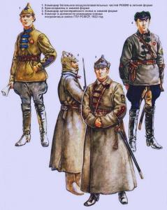 Рабоче-крестьянская Красная Армия (1920 - 1922 г.г.). Рисунки Роберто Паласиос-Фернандеса.