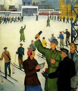 Подготовка рабочих к обороне - Вера Ливанова (1932 год)