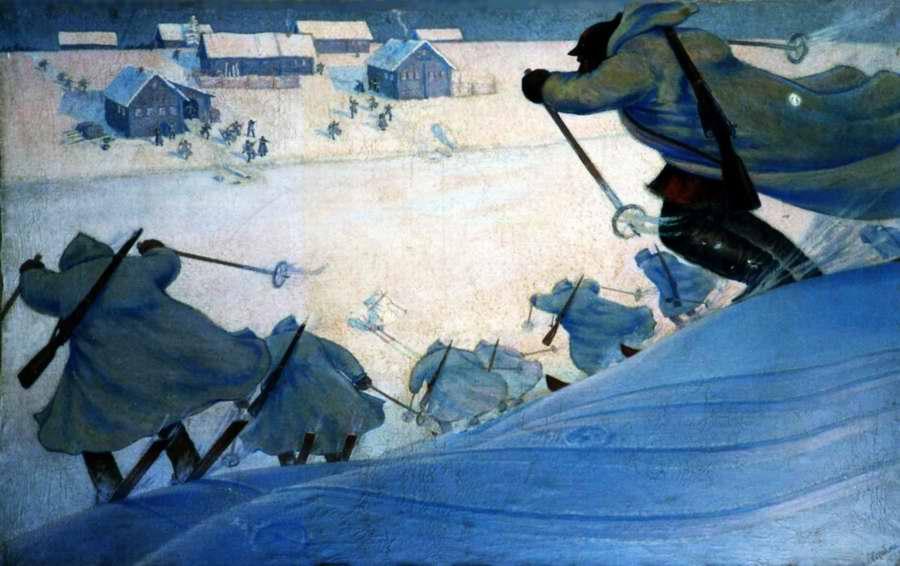Лыжный рейд в Карелии - Алексей Кацеблин (1933 год)