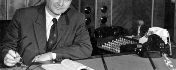 """Александр Иванович Шокин (Изображение с обложки книги: """"Портрет на фоне эпохи"""")."""