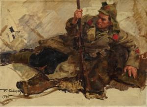 Раненый. Савицкий Георгий Константинович. 1940