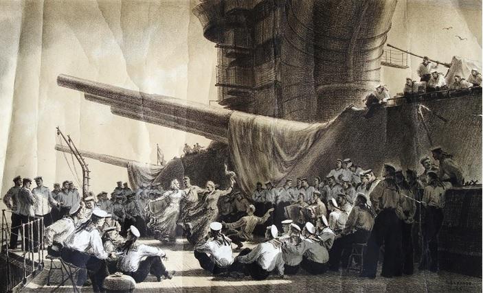 Концерт на корабле. Баранов Пётр Иванович. 1954