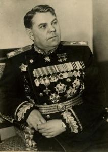 Портрет маршала Советского Союза А.М. Василевского в кресле