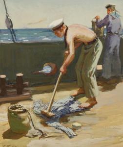 Боим (Бойм) Соломон Самсонович (РОССИЯ 1899-1978) Тельняшка 1953