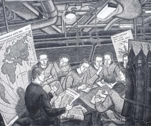 Емельянов Владимир Александрович (Россия, 1937) «Политзанятия на Балтийском флоте» 1976