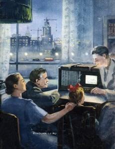 Константин Михайлович Кузгинов (Россия, 1913-после 1985) эскиз обложки журнала «Знание - сила» 1953