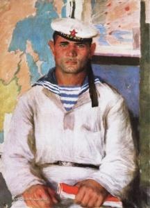 Лебедев Владимир Васильевич (1891-1967) «Моряк в тельняшке» 1937