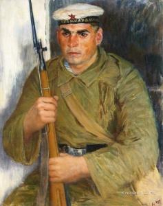 Лебедев Владимир Васильевич (1891-1967) «Портрет моряка-краснофлотца» 1937