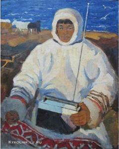Манаков Борис Николаевич (Россия, 1931-1993) «Оленевод» 1963 – 1967